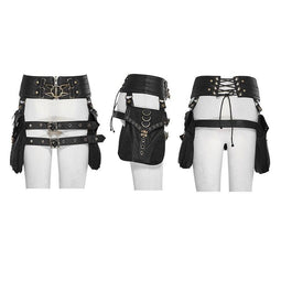 Women's Steampunk Buckle Up Girdle Retro Holster With Detachable Waist Bags-Punk Design