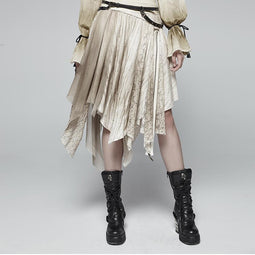 PUNK RAVE Women's Steampunk Multilayer Skirt Net Skirt