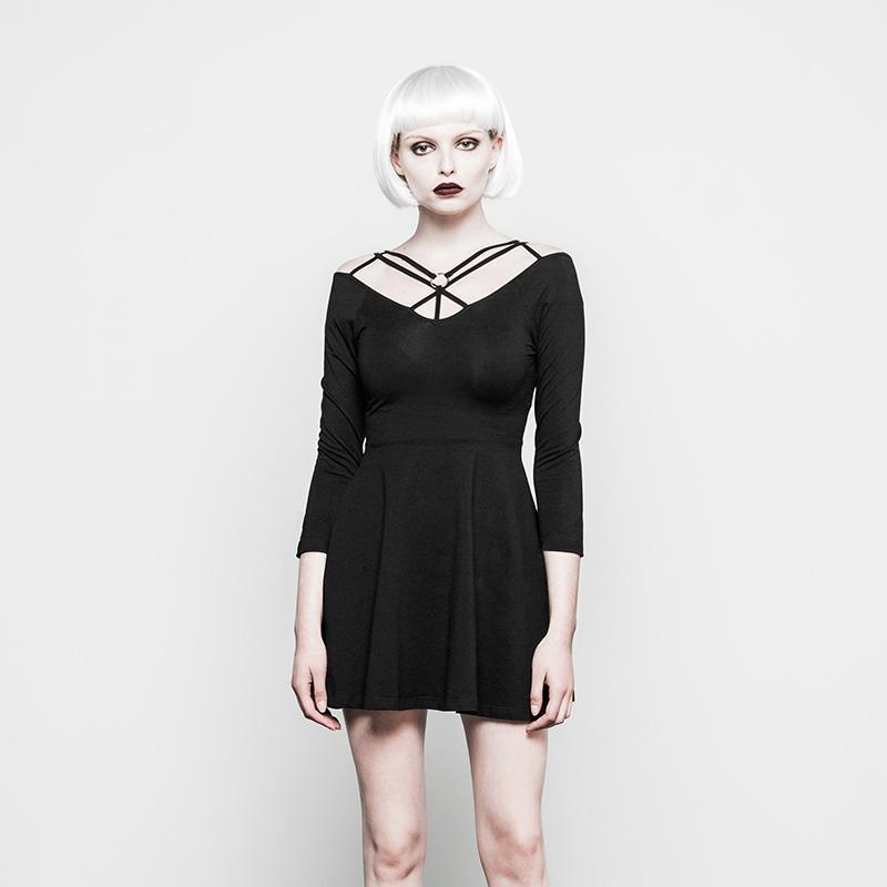 Women's Strappy Goth Dress-Punk Design