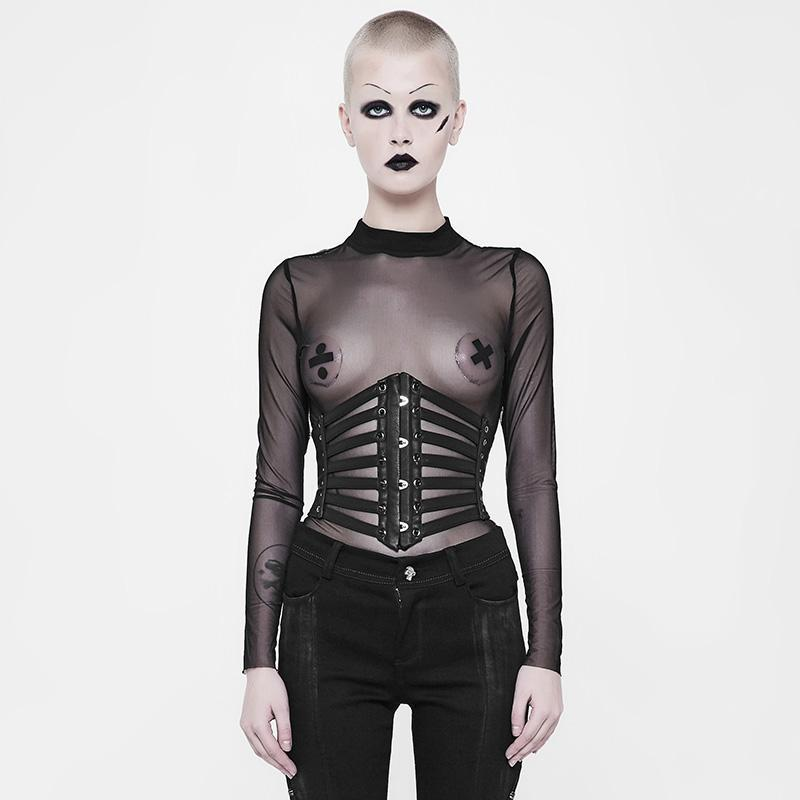 Women's Strappy Leather Punk Girdle-Punk Design