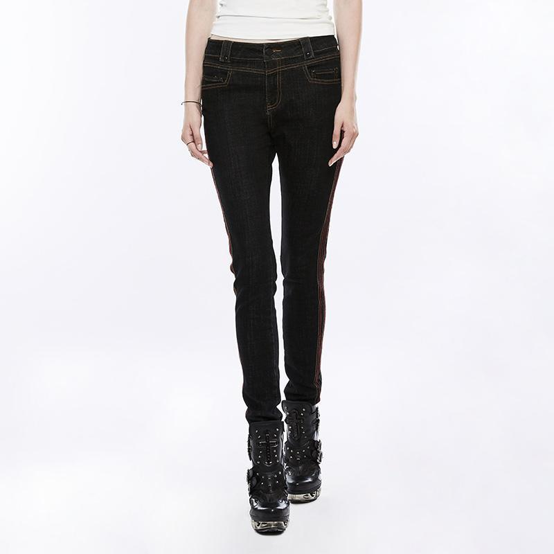 Women's Slim Fitted Skinny Jeans-Punk Design