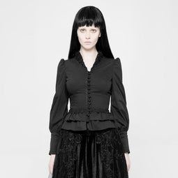 Women's Vintage Goth Blouse-Punk Design