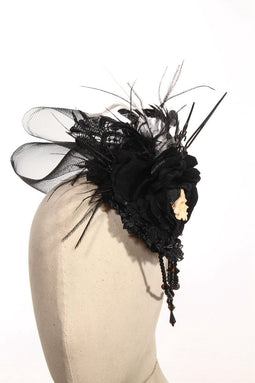 Goth Schädel Fascinator Hut - PunkDesign