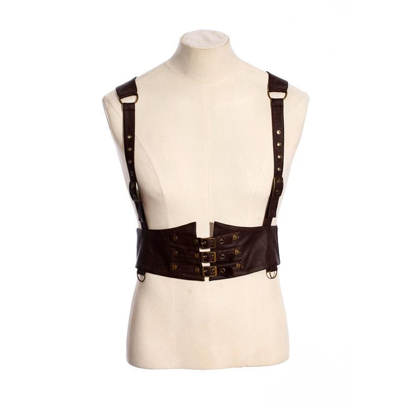 Leather Steampunk Body Harness - PunkDesign