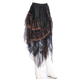 Punk Multilayered Ruffled Skirt-Punk Design