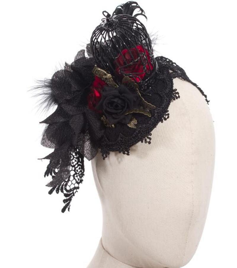 Quintessential Gothic birdcage Headdress-Punk Design