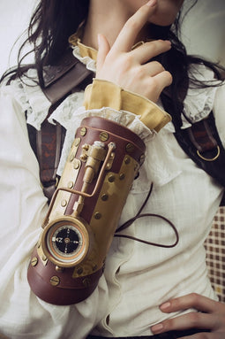 Steampunk Arm Cuff With Machine Parts-Punk Design
