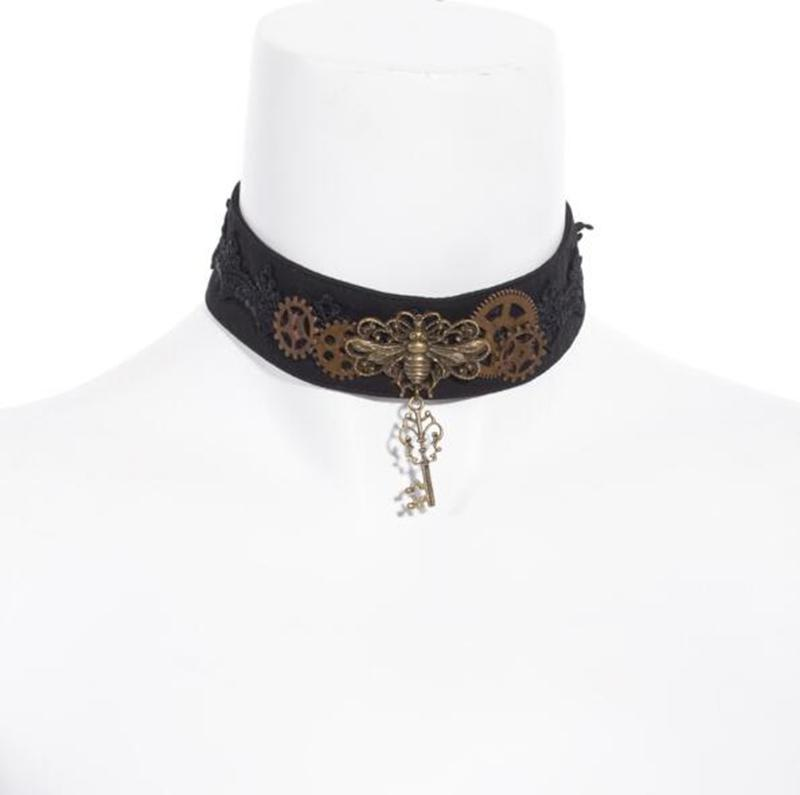 Steampunk Butterfly And Key Choker-Punk Design