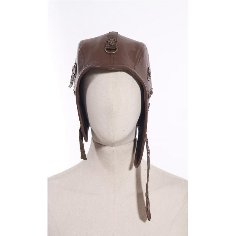 Steampunk Chullo Leather Cap-Punk Design