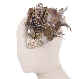Steampunk Clock parts Fascinator hat-Punk Design