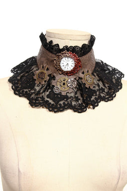 Girocollo in pizzo steampunk-design punk