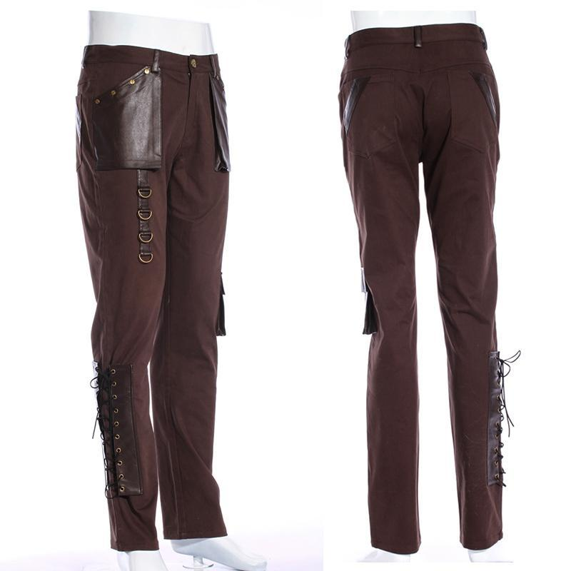 Steampunk Leder Accents Explorer Hose-Punk Design
