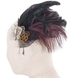 Steampunk Mesh und Feather Headdress-Punk Design