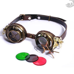 Steampunk Welding Goggles with Gears-Punk Design