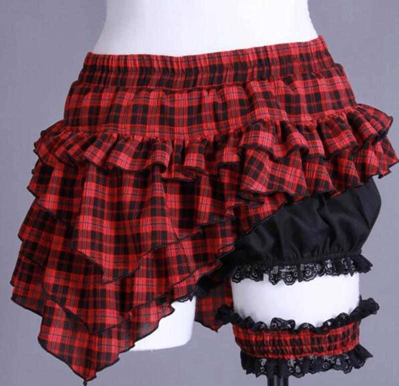 Stylish Checked Maid's Cosplay Skirt-Punk Design