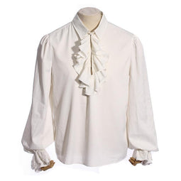 RQ-BL Vintage Collared Ruffled Shirt