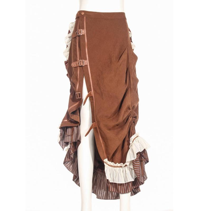 Women's Asymmetrical Frilly Vintage Punk Skirt-Punk Design