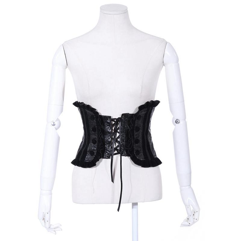 Women's Broad Lace Up Steampunk Waist Girdle-Punk Design