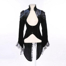 Damen Dressy Gothic Tail Coat-Punk Design