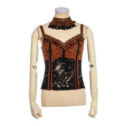Damen Spitzen Korsett Top-Punk Design