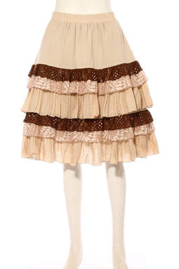Women's Layered Frilled Steampunk Skirt-Punk Design