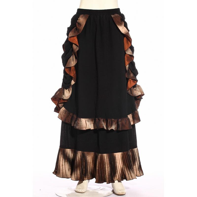 Women's Long Layered Steampunk Skirt-Punk Design