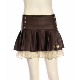 Damen Short Lace Underlay Steampunk Rock-Punk Design