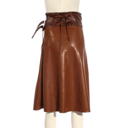 RQ-BL Women's Steampunk Faux Leather Half Skirt