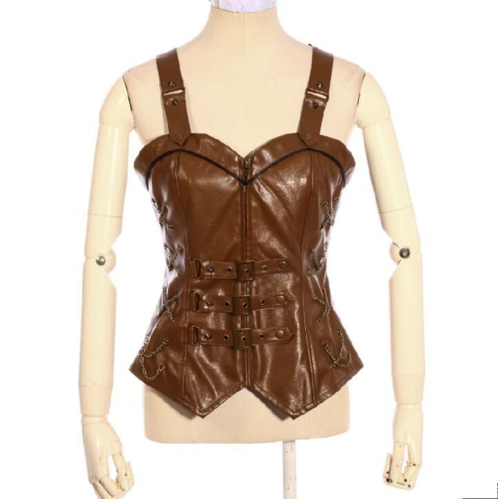 Women's Steampunk Faux Leather Jacket-Punk Design