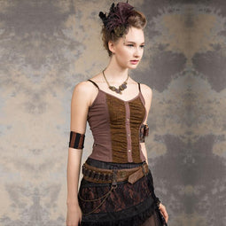 Women's Vintage Corset Top-Punk Design