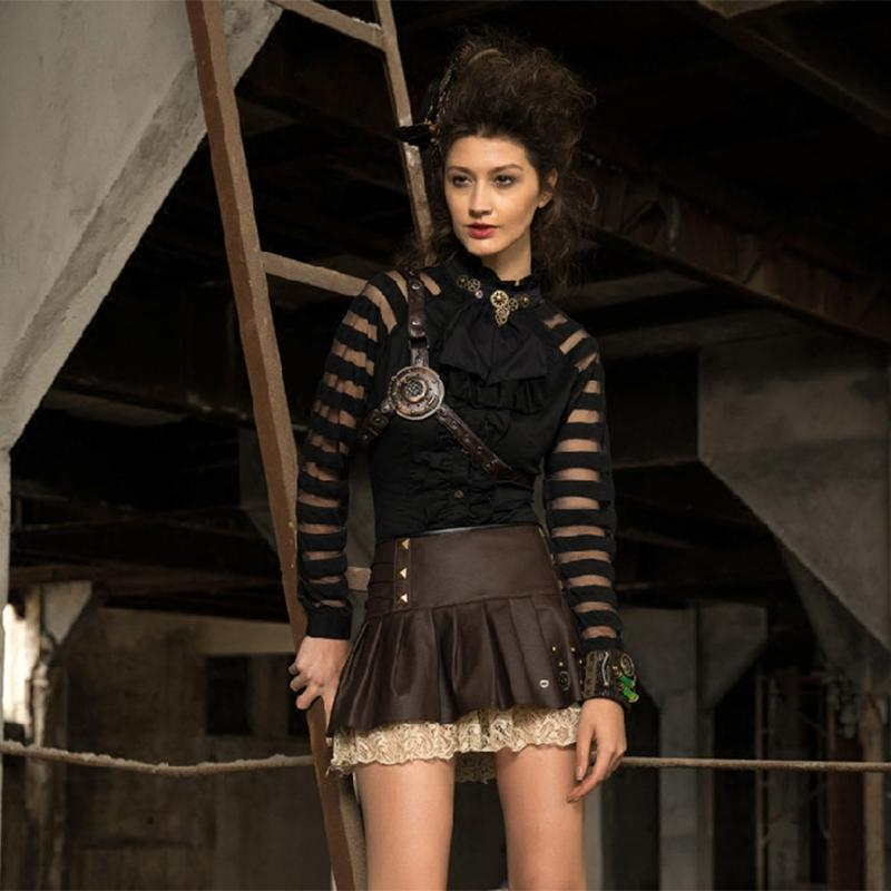 Damen Vintage Steampunk Top-Punk Design
