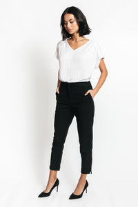 black ankle pants