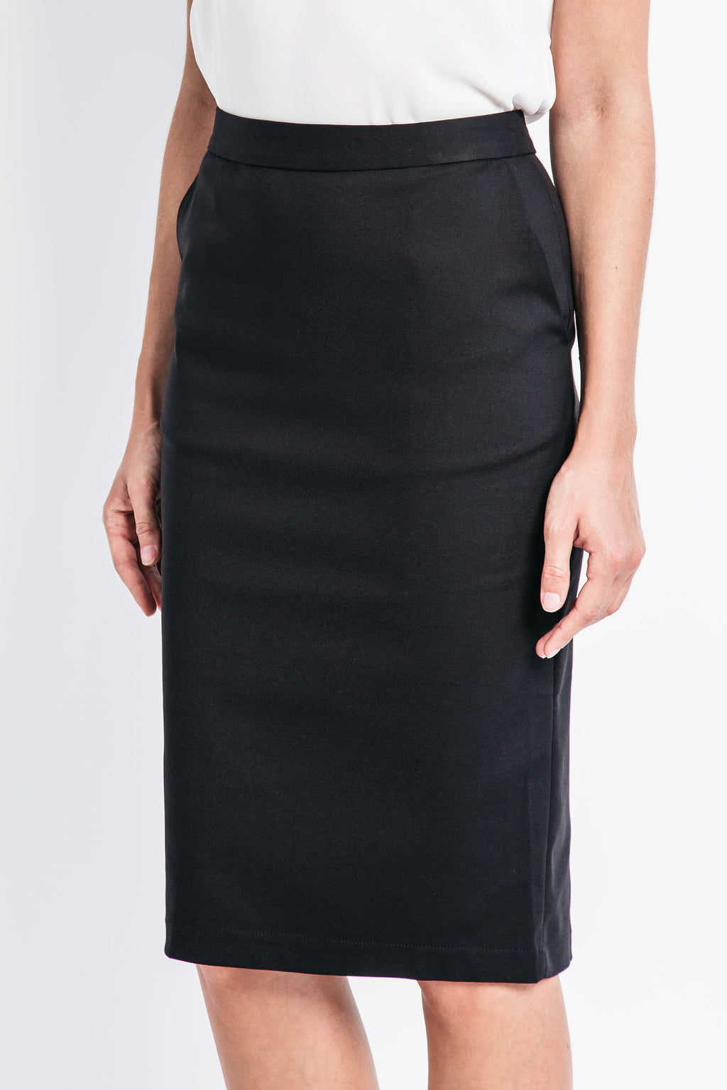 Classic Pencil Skirt with Pockets