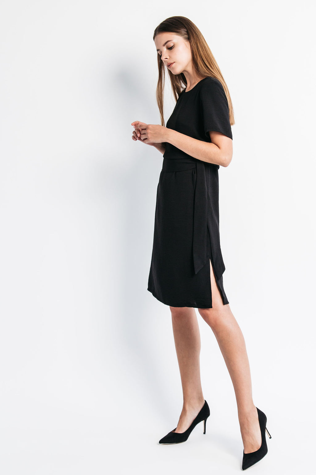 Side Ties Dress