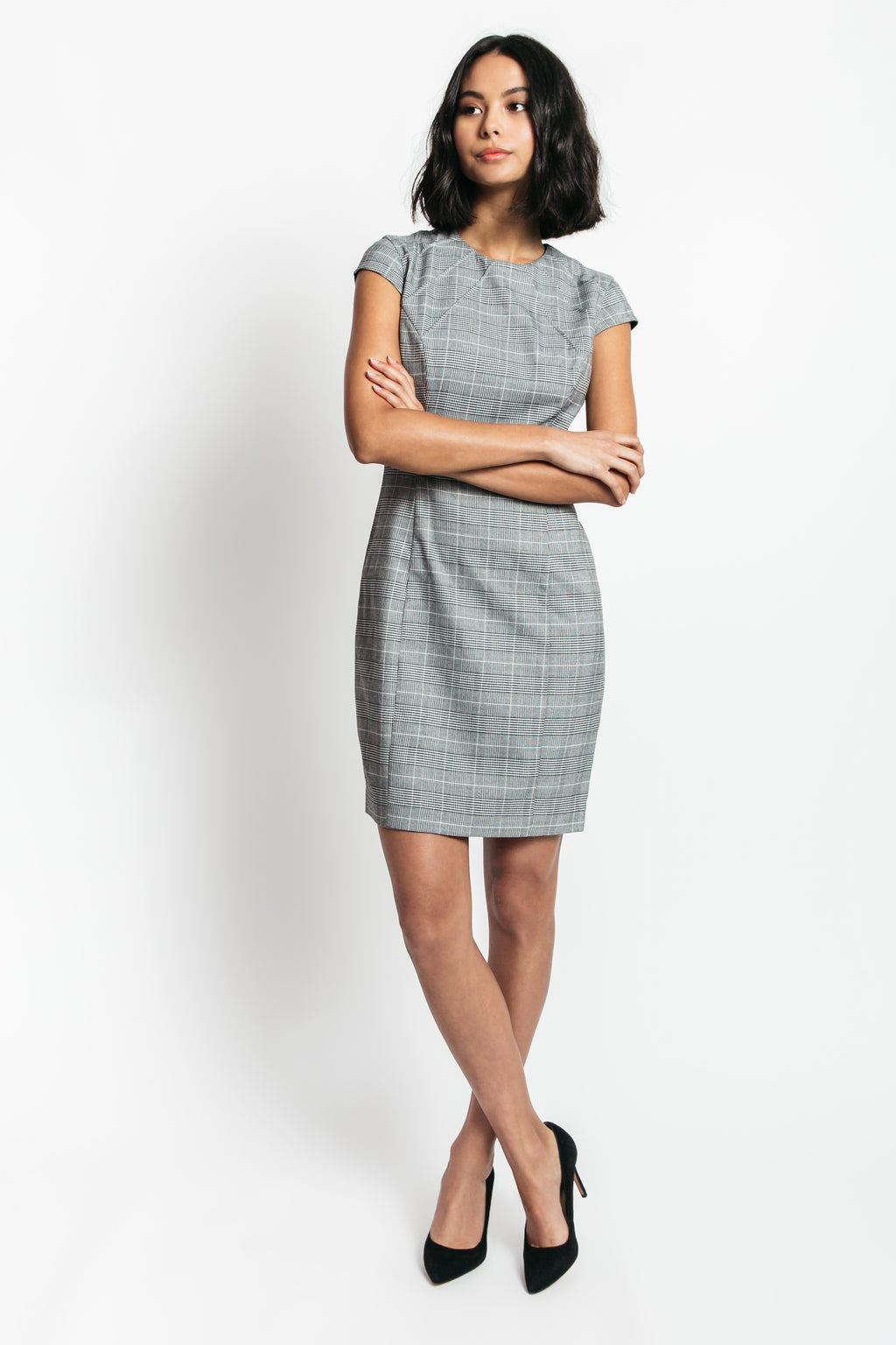 Courtney Plaid Sheath Dress