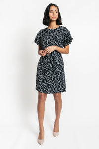 Wendy Waist Tie Ruffle Sleeve Dress