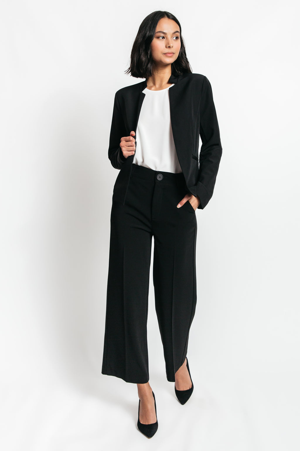 Lauren Mock Neck Blazer