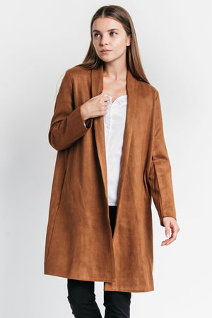 faux suede coat