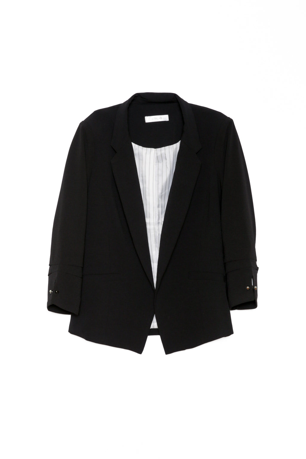 ruched sleeve blazer black blazer
