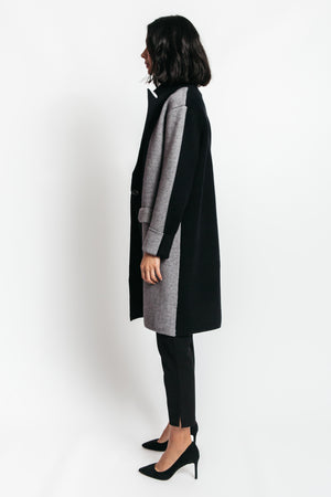 Clara Color Block Sweater Coat