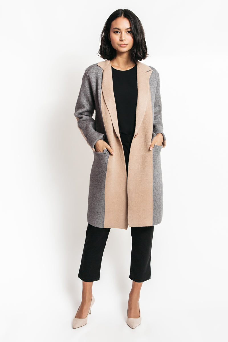 color block coat