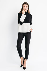 womens colorblock sweater