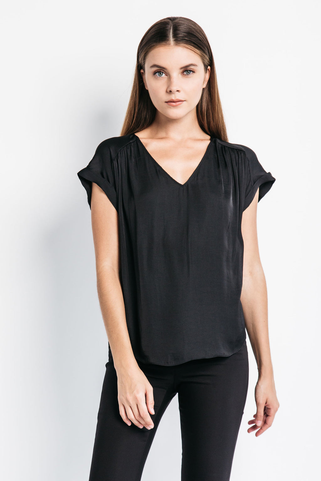 Loose V-Neck Top