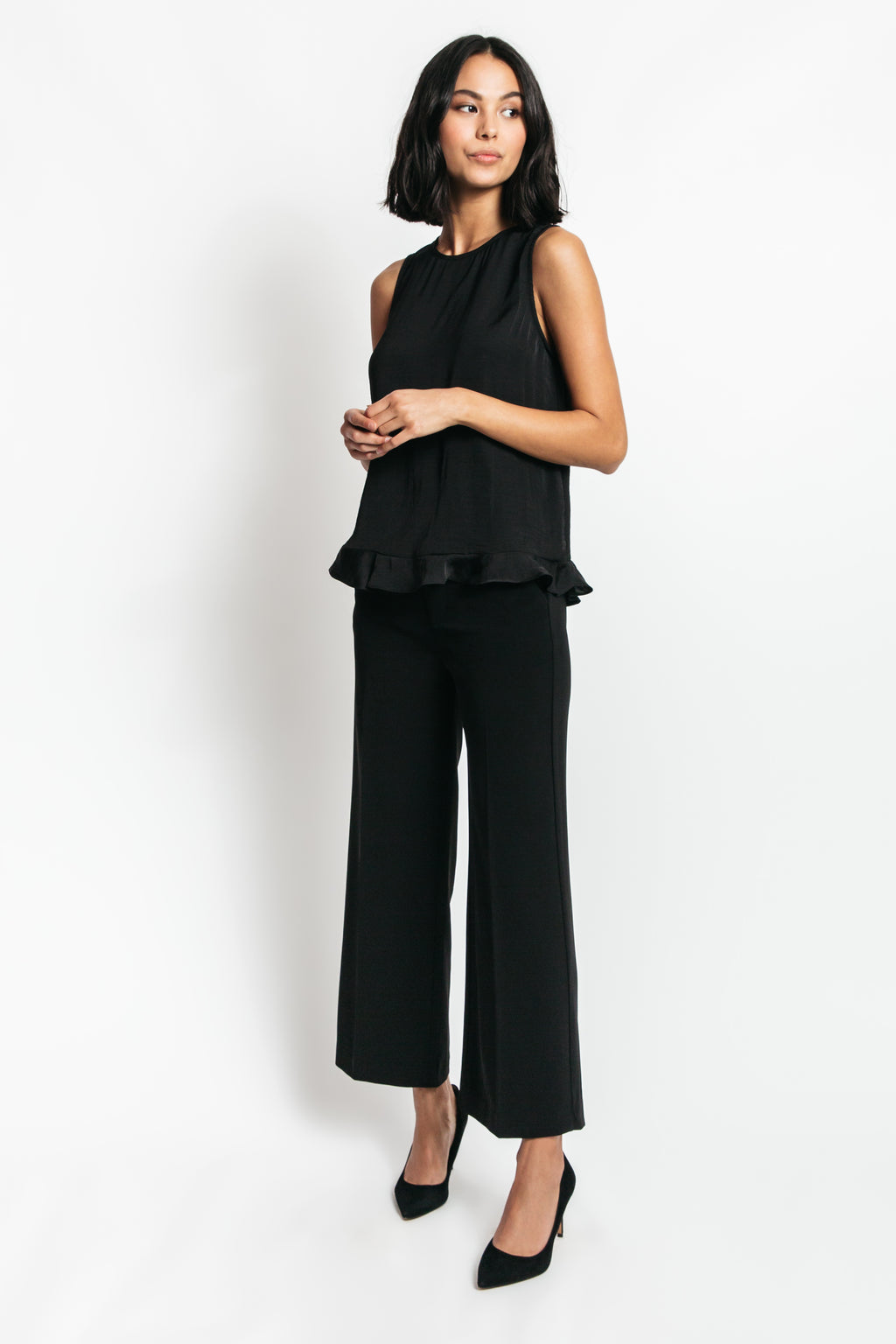 black peplum tops