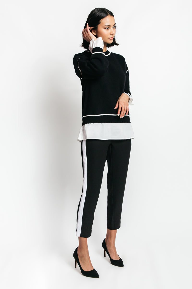Maria Mock Layered Sweater