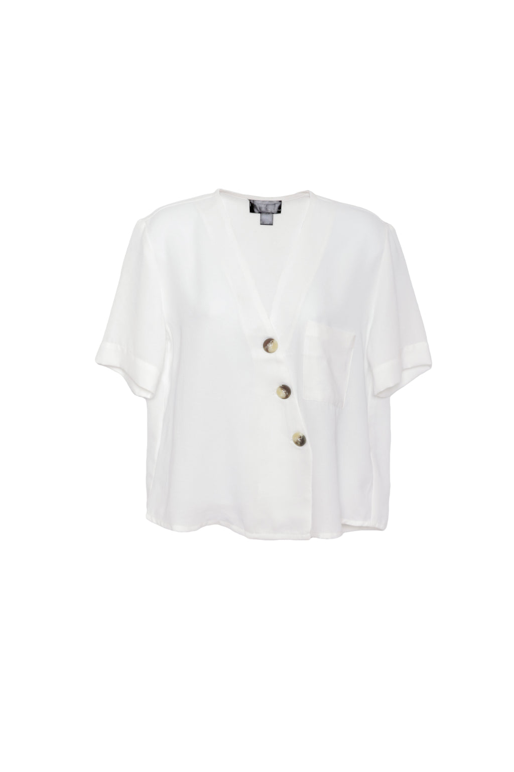 Buttoned Boxy Blouse