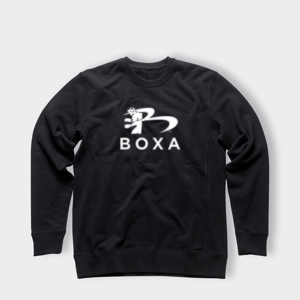 BOXA BLACK CREW JUMPER