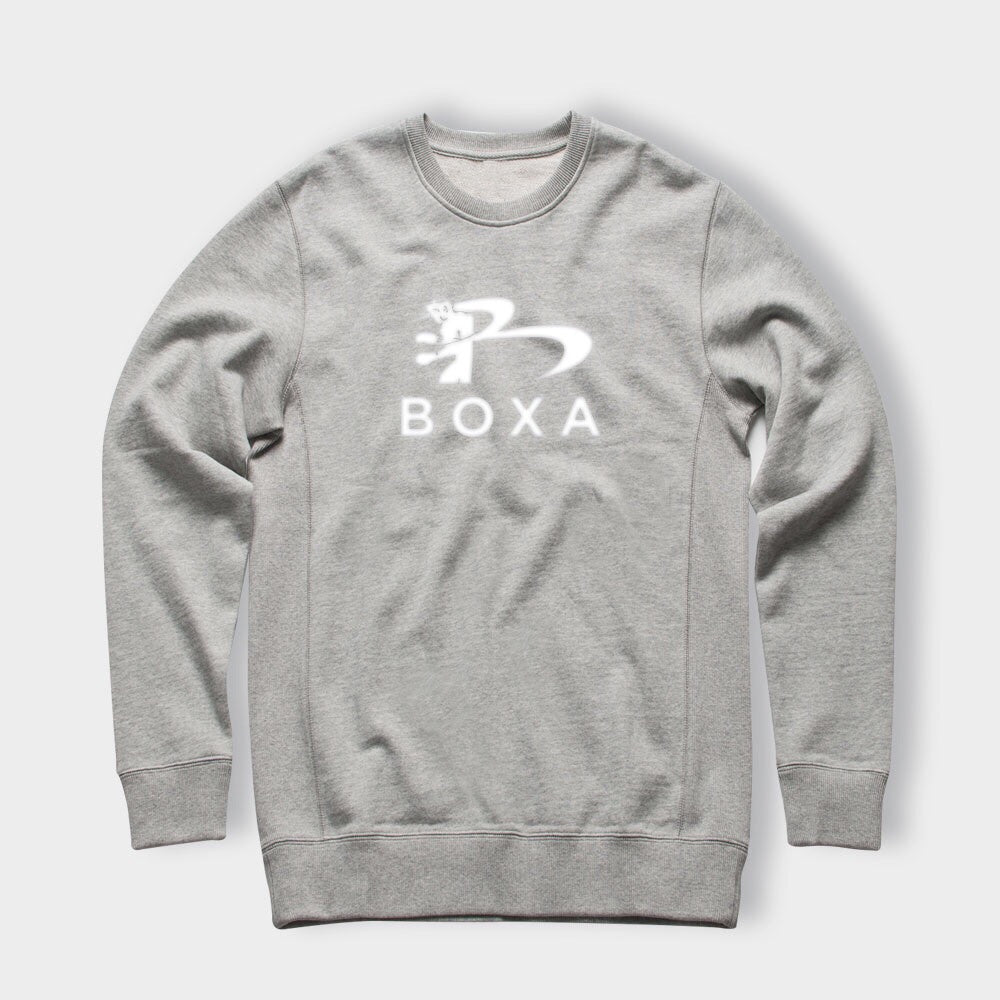 BOXA GREY CREW JUMPER