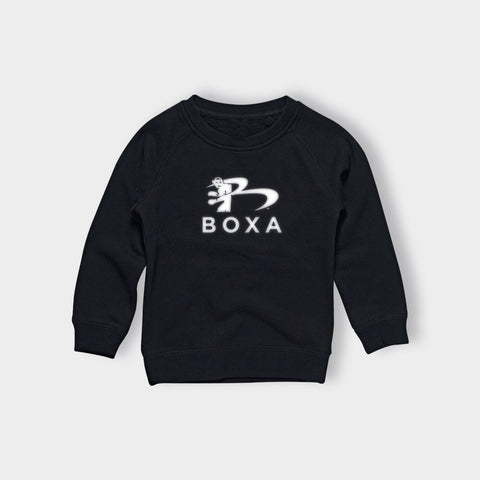 KIDS / YOUTH BOXA BLACK CREW JUMPER