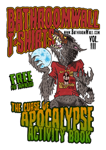 Curse of Apocalypse Activity Book